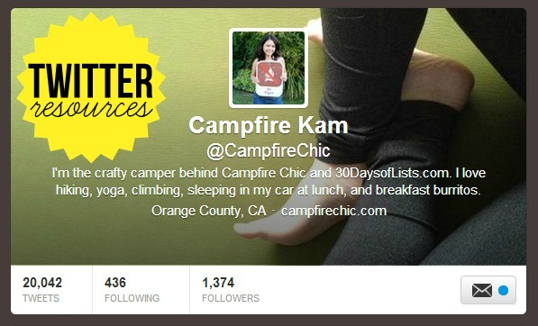 Twitter resources from Campfire Chic