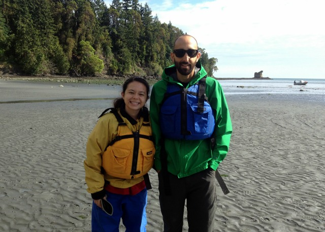 Alex and Kam go sea kayaking in Washington