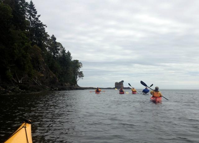 Sea Kayaking in Strait of Juan de Fuca with Olympic Raft and Kayak