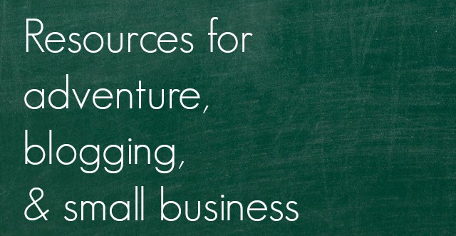 A list of great resources for blogging and business - Campfire Chic