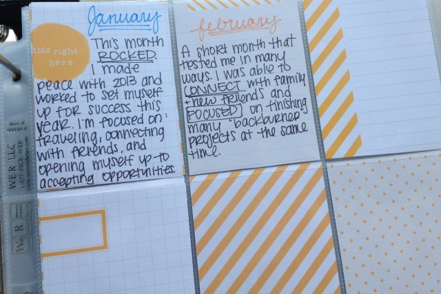 2014 One Little Word Monthly Reflection Cards - Campfire Chic