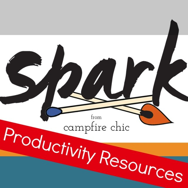 Productivity Resources for Bloggers - Spark Ecourse by Campfire Chic