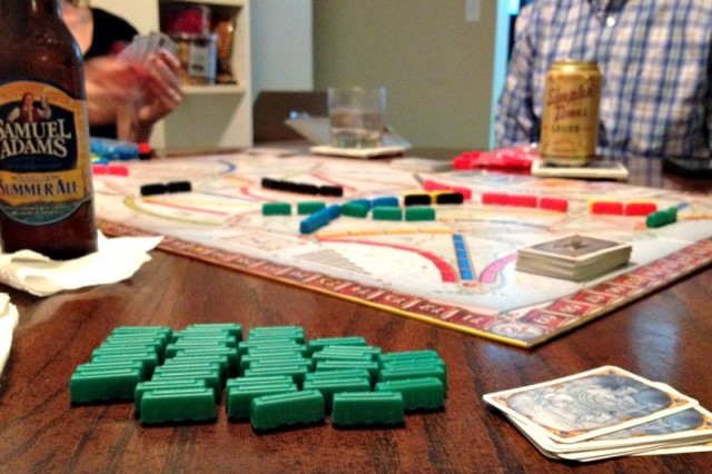 Ticket to Ride Game Night with Friends - Campfire Chic
