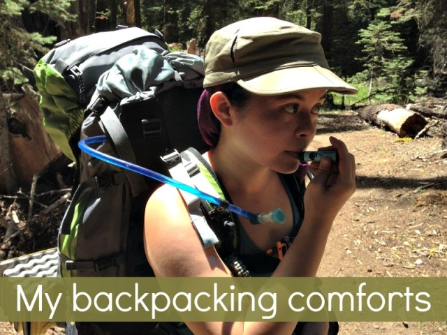 Simple Backpacking Comforts - Campfire Chic