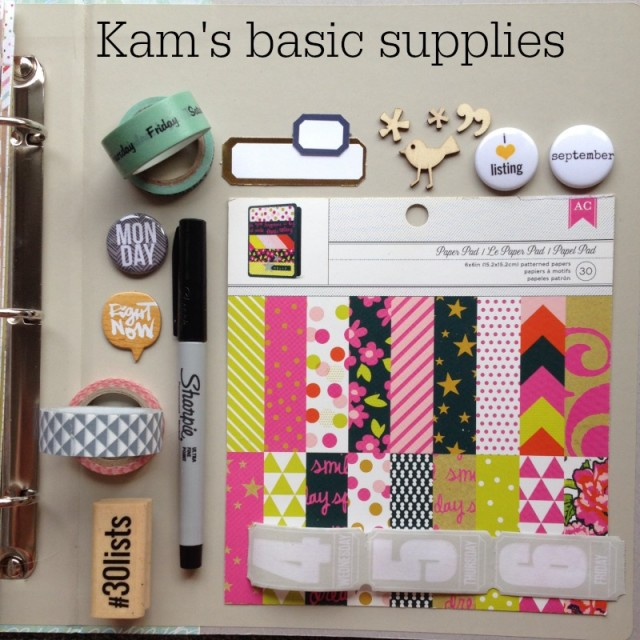 30 Days of Lists - Album Supplies by @CampfireChic
