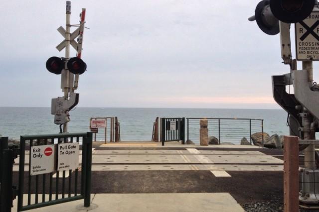 Railroad Crossing at San Clemente Beach Trail - Campfire Chic