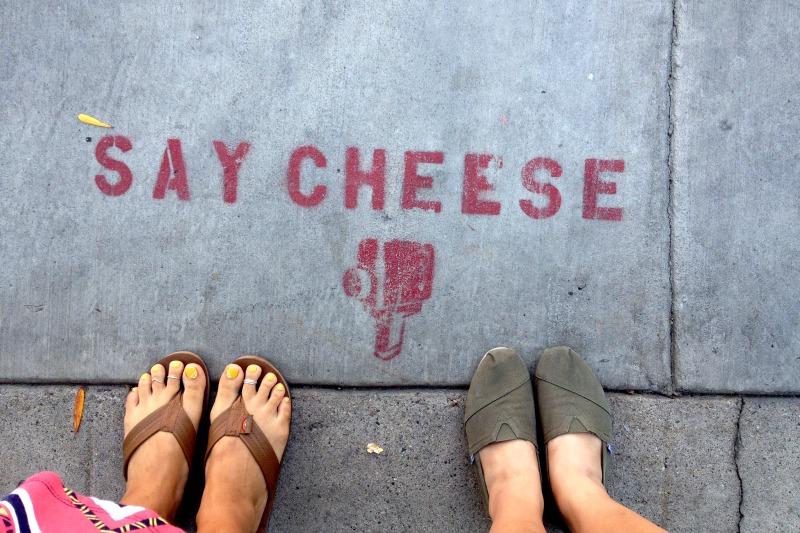 LA Tour - Say Cheese Street Art