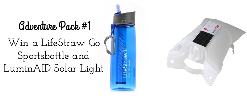 LifeStraw Go Sportsbottle and LuminAID Lantern Review and Giveaway on Campfire Chic