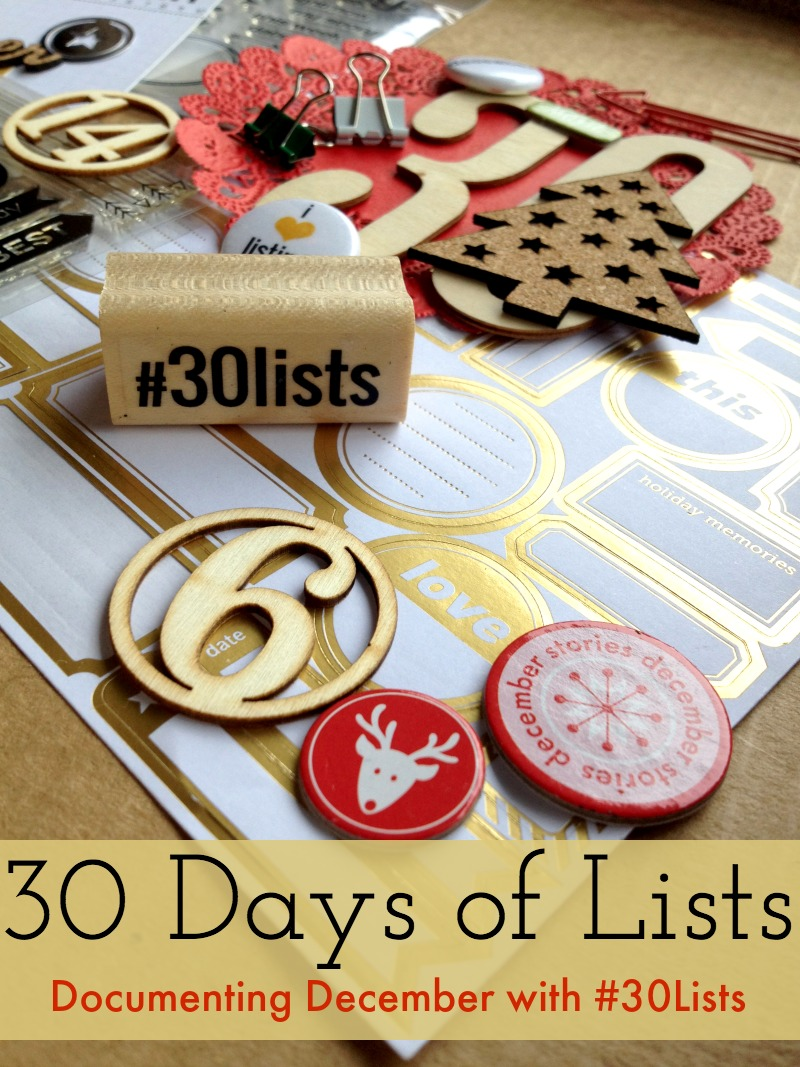 30 Days of Lists December 2014 Ad