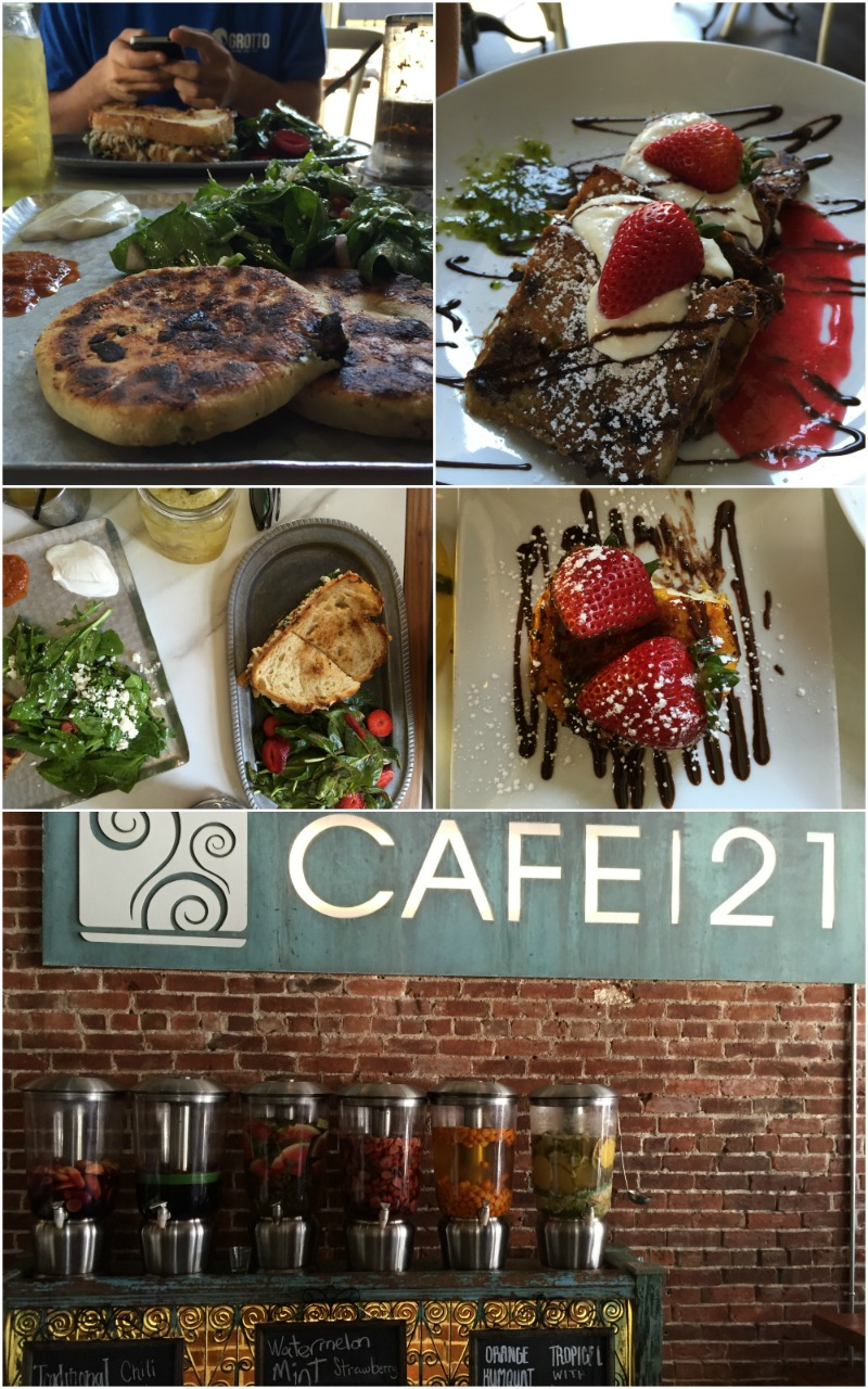 Cafe 21 Gaslamp District San Diego California - Campfire Chic