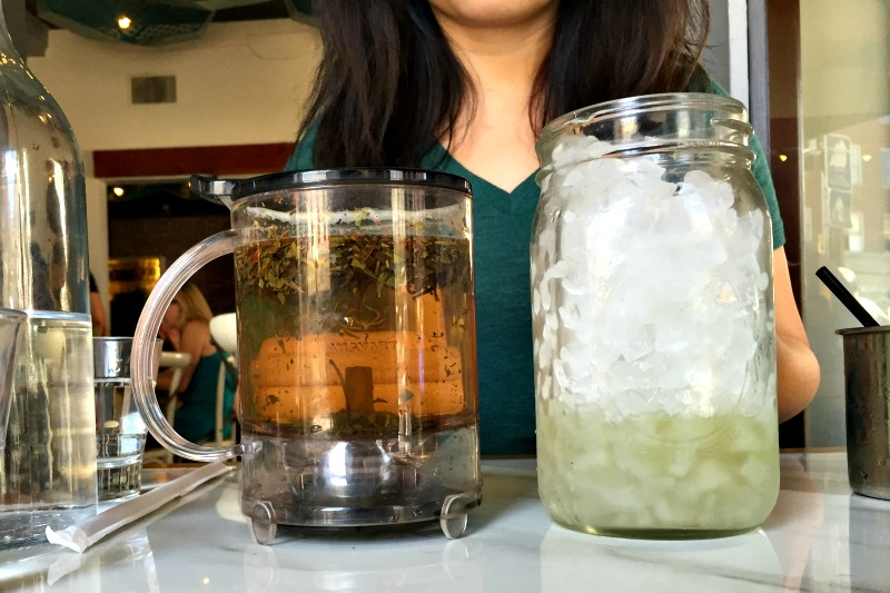 Iced Tea at Cafe 21 in San Diego California - Campfire Chic