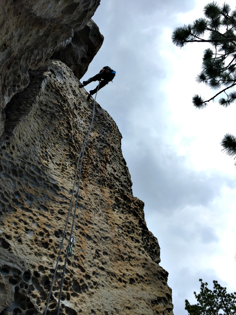 Rappelling in Mammoth Lakes Area - Campfire Chic