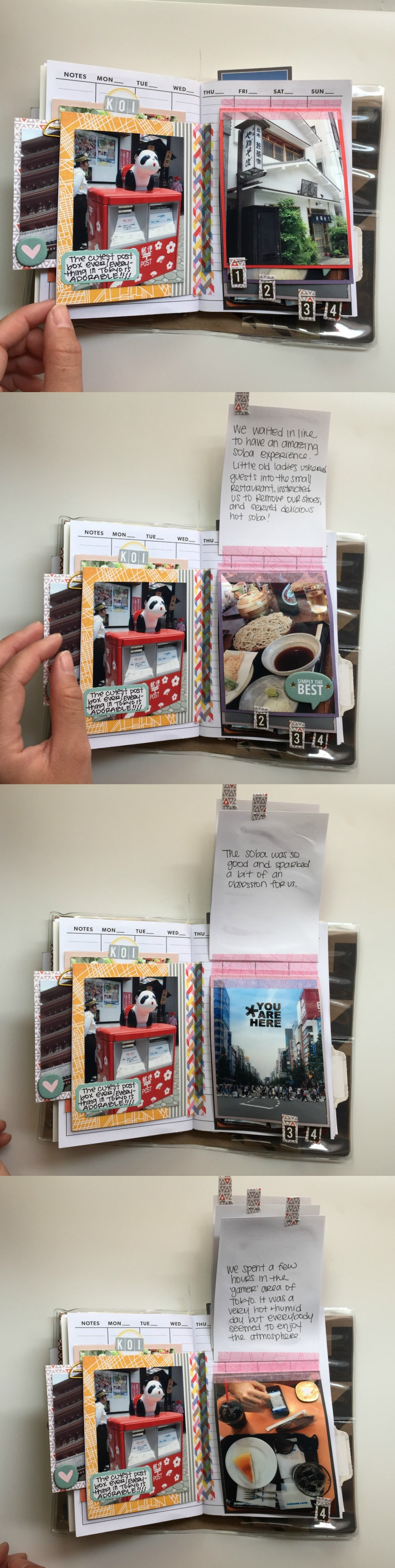 Adding More Stories Into A Vacation Scrapbook - Campfire Chic's Japan Trip 2015