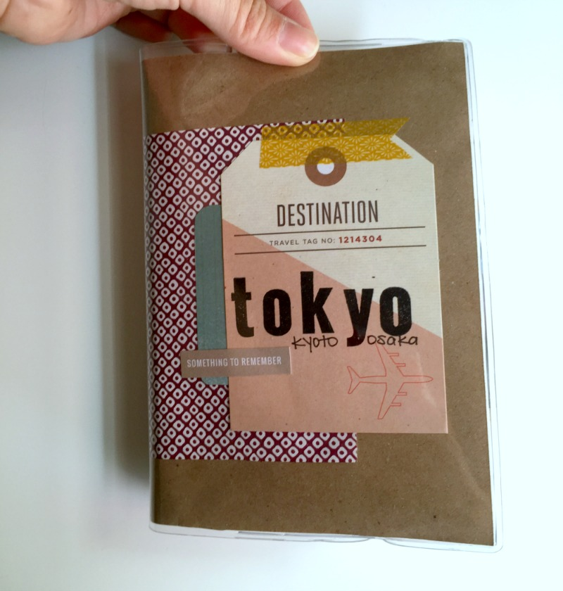 Cover of Travel Scrapbook Album Using Kelly Purkey Wallet System - Campfire Chic
