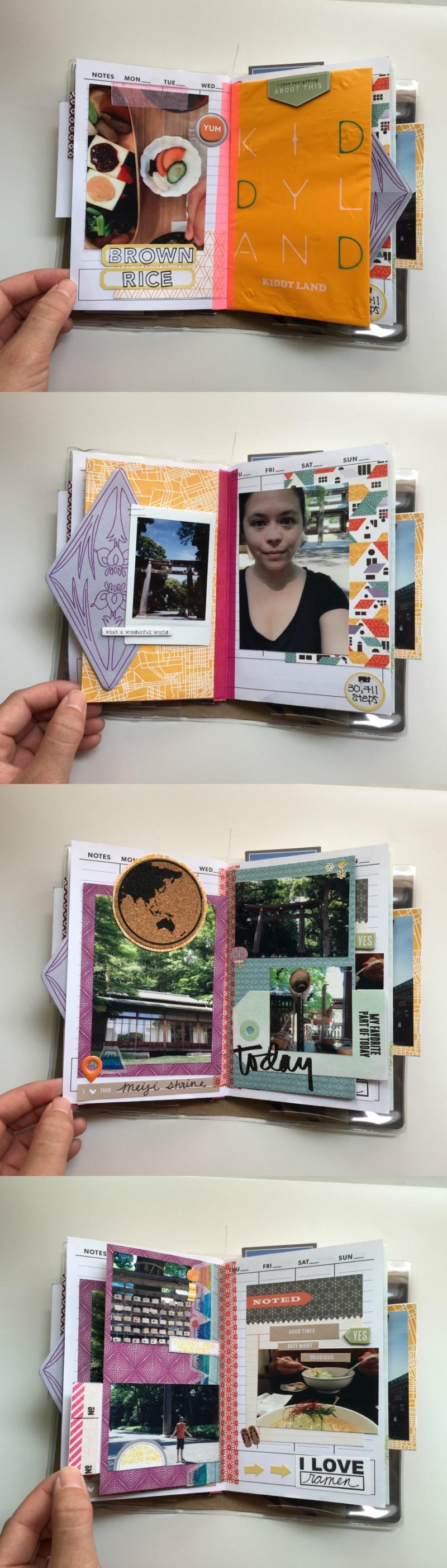 Vacation Scrapbook Album Featuring Tokyo Japan - Campfire Chic