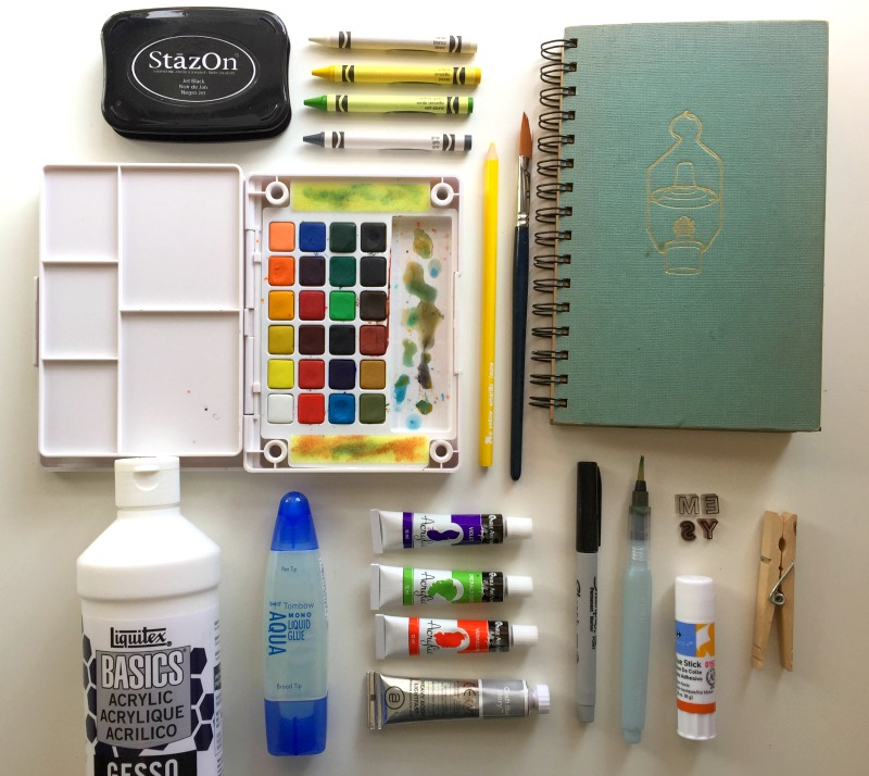 Art journaling supply list for beginners campfire chic for Watercolor supplies for beginners